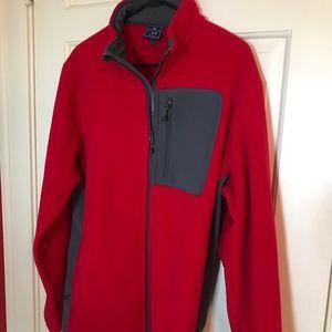 NWOT Vineyard Vines Medium Fleece Jacket - Red